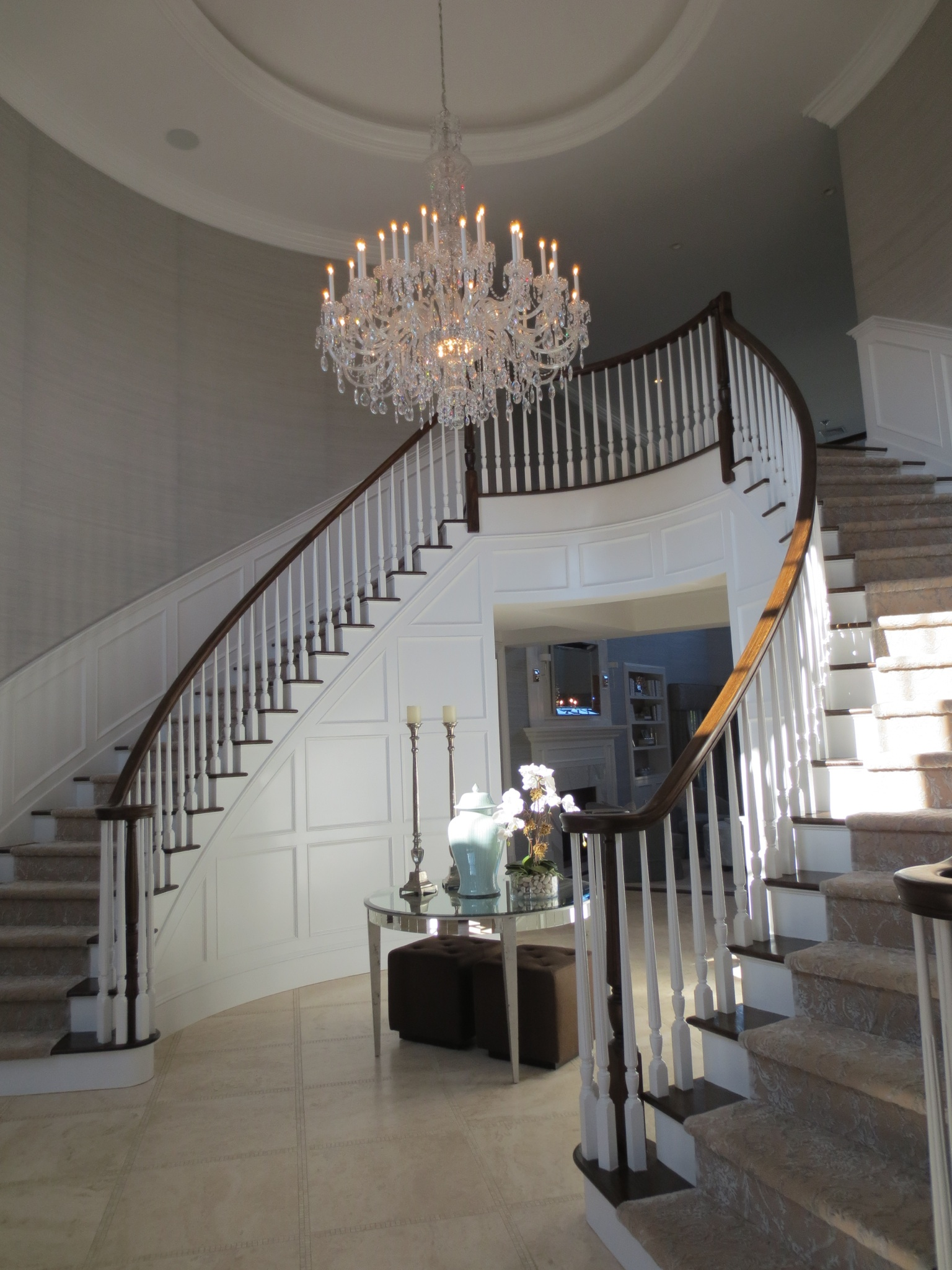 How to choose the perfect chandelier for your house homemajestic crystal foyer chandelier aloadofball Image collections