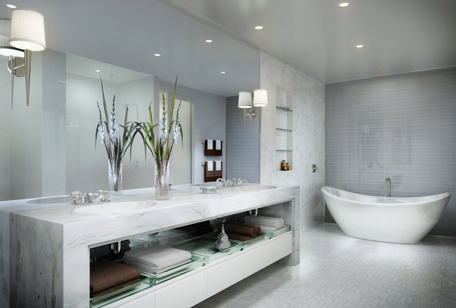 modern bathrooms - homemajestic