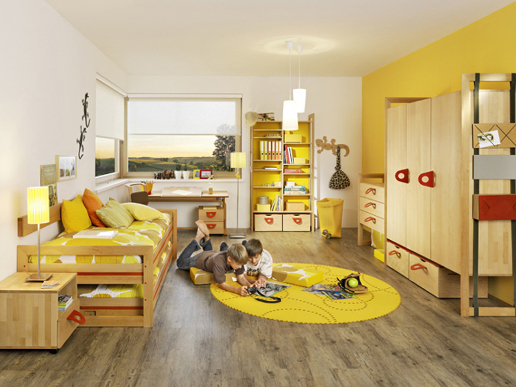 antique-yellow-kids-room-furniture