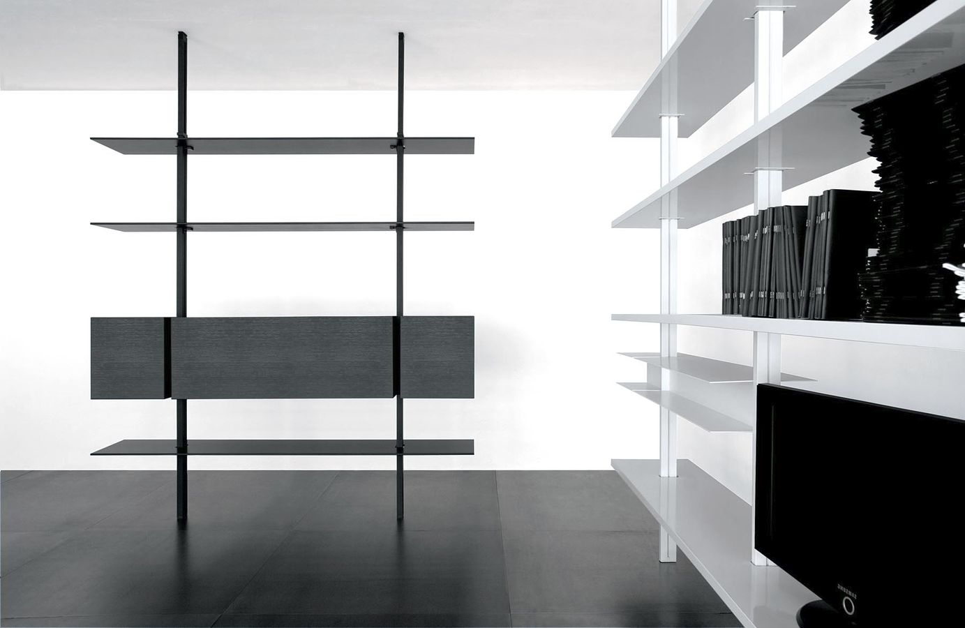 black-and-white-minimalist-bookcase-design-unique-bookcase-minimalist