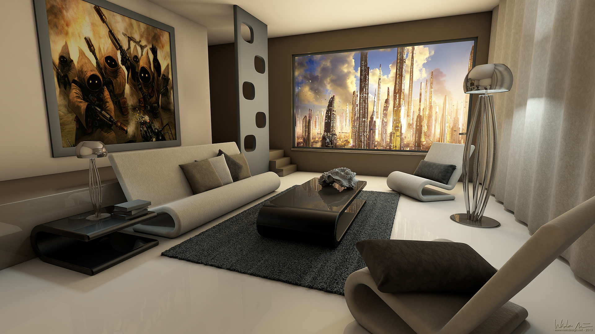 Modern living rooms and technology for it. - HomeMajestic