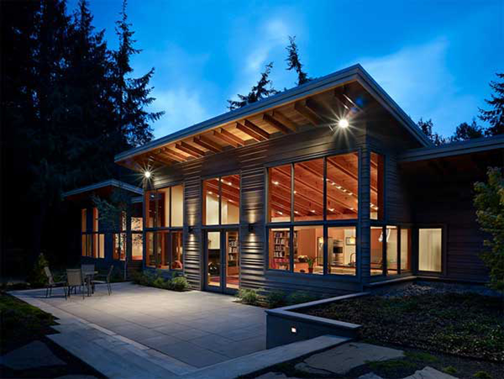 View Port Townsend Wooden Green House Home Design