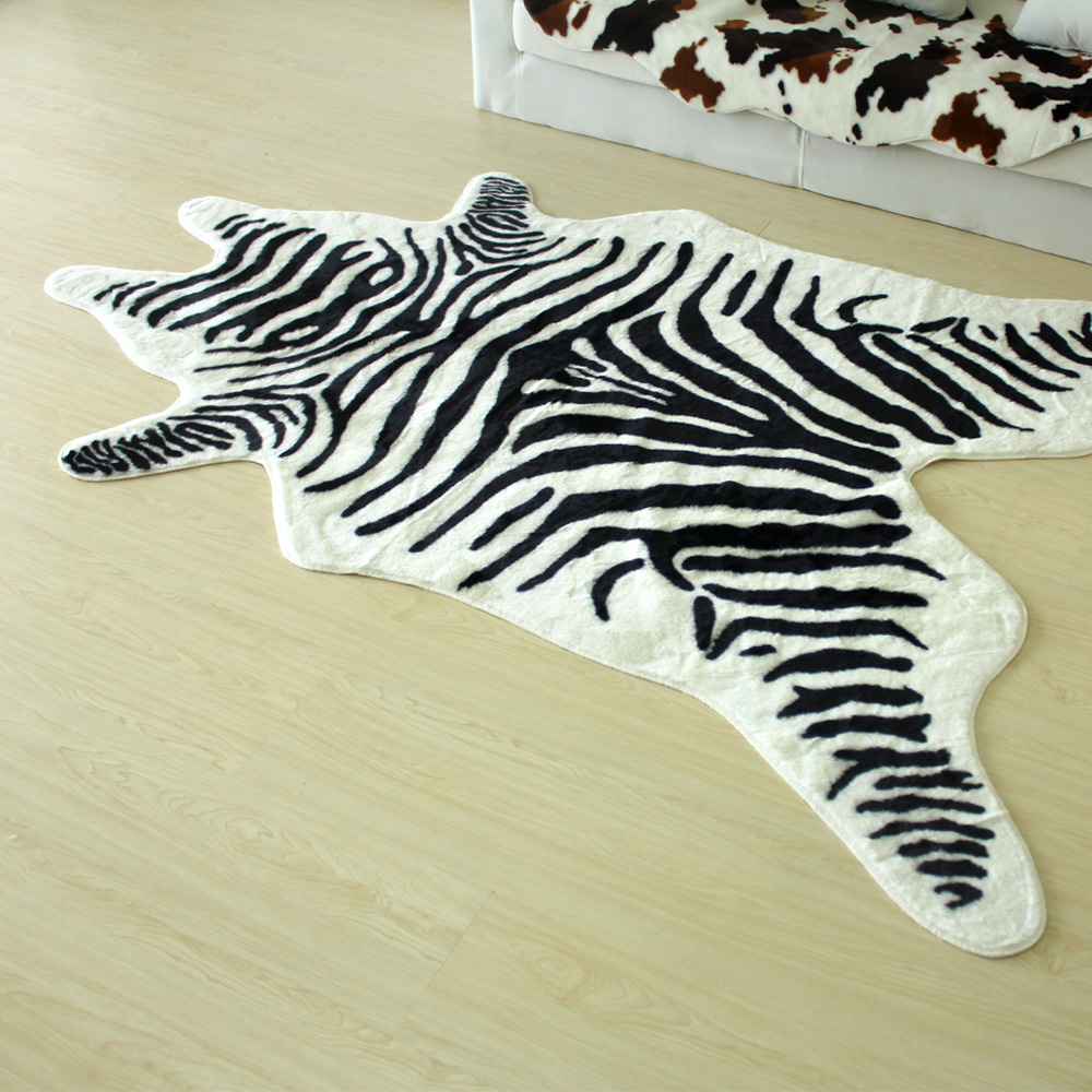 The-face-shape-fashion-copy-genuine-leather-high-quality-zebra-print-carpet-large-tapestry