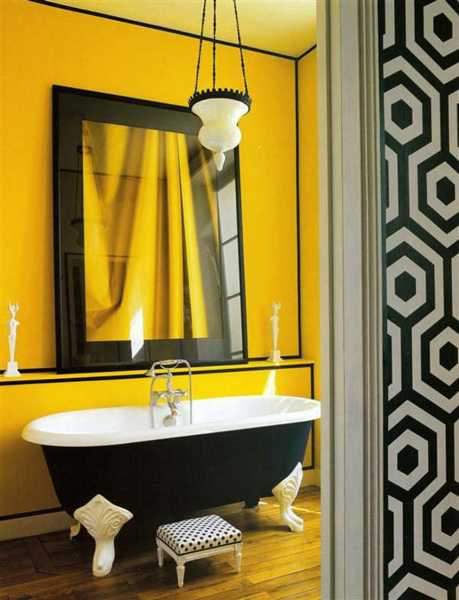 Bathroom Decor Ideas Yellow a bathroom with black details - homemajestic