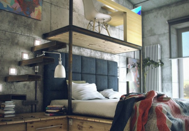 house-tours-dual-level-bedroom-mezzanine-office-wonderful-casual-loft-style-living-to-consider-3273